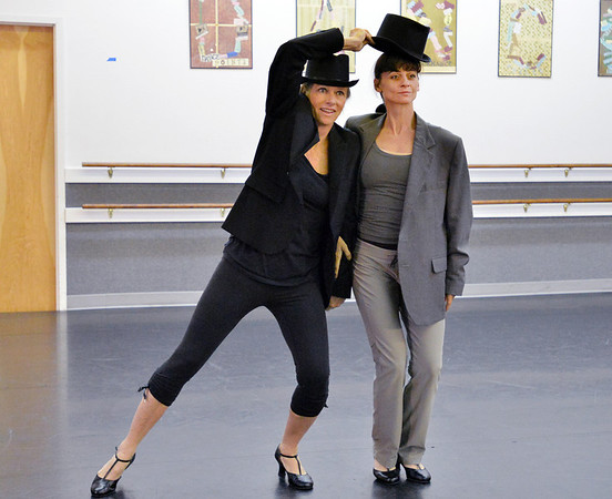 Dancing with the Broomfield Stars star, Penny TerHar,  dances with Ballet Nouveau Colorado associate artistic director Dawn Fay during a rehearsal at Dance Arts Studio.<br />  August 17, 2012<br /> staff photo/ David R. Jennings