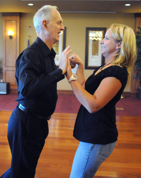 Keith Forstrom and Cindy Gerhardt rehearse their routine for Dancing with the Broomfield Stars.<br /> <br /> September, 2010<br /> staff photo/David R. Jennings