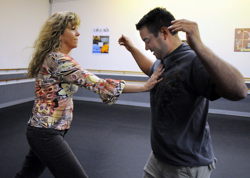Jennifer Kerr and Tony Trujillo rehearse their routine for Dancing with the Broomfield Stars.<br /> <br /> September, 2010<br /> staff photo/David R. Jennings