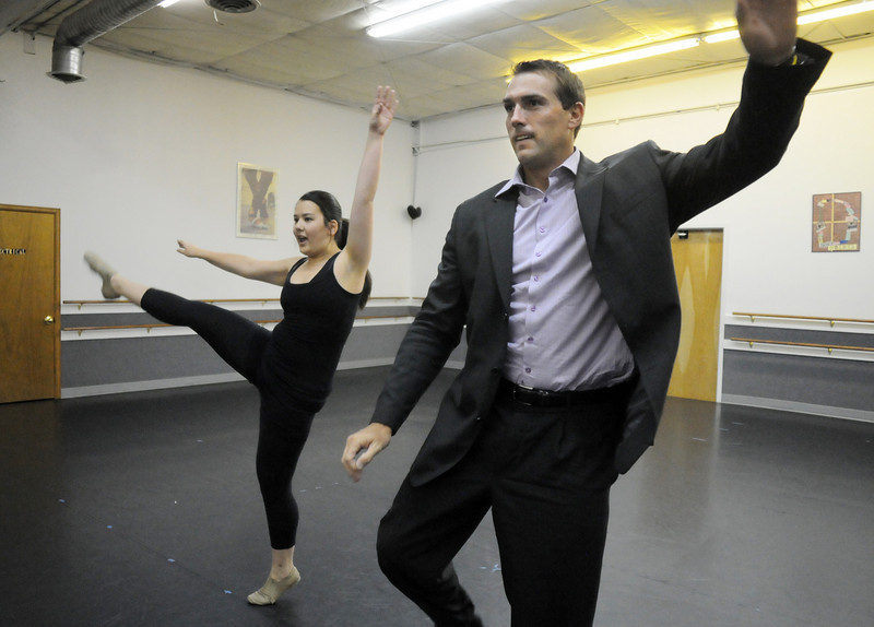 Carlee Taga and Beau Smith rehearse their routine for Dancing with the Broomfield Stars.<br /> <br /> September, 2010<br /> staff photo/David R. Jennings