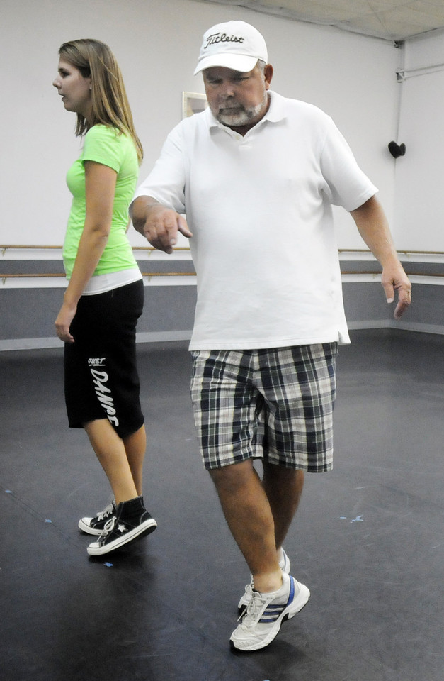 John Ferraro and Michelle Hastings rehearse their routine for Dancing with the Broomfield Stars.<br /> <br /> September, 2010<br /> staff photo/David R. Jennings