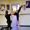 Natalie Roubique (Alice) dances with Christopher Darling during rehearsal for Danse Etoilte Ballet's  Alice in Wonderland on Thursday.<br /> <br /> May 17, 2012 <br /> staff photo/ David R. Jennings