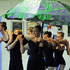 MacKenzie Ramsey, 14, ( The Catapillar) is carried by dancers from under a mushroom, Stacey Gibbs during rehearsal for Danse Etoilte Ballet's  Alice in Wonderland on Thursday. <br /> <br /> May 17, 2012 <br /> staff photo/ David R. Jennings