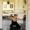 Natalie Roubique (Alice) reacts as the floor comes down during rehearsal for Danse Etoilte Ballet's  Alice in Wonderland on Thursday. <br /> <br /> May 17, 2012 <br /> staff photo/ David R. Jennings