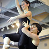 Natalie Roubique (Alice) is carried by Cooper Ramsey during rehearsal for Danse Etoilte Ballet's  Alice in Wonderland on Thursday. <br /> <br /> May 17, 2012 <br /> staff photo/ David R. Jennings