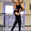 Kiera O'Neill, 13, is lifted into the air by Christopher Darling while rehearsing for Danse Etoile Ballet's season opening production, Celebrate Dance and Music.<br /> August 17, 2012<br /> staff photo/ David R. Jennings