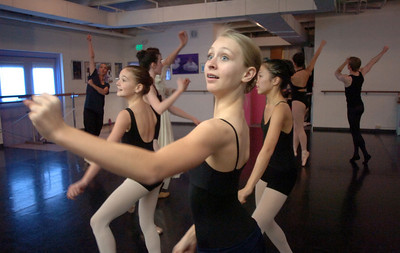 Rebecca Terry, 14, performs for a dance scene during rehearsal of Danse Etoile's A Christmas Carol  at the studio on Saturday. More photos please see www.broomfieldenterprise.com December 10, 2011 Staff photo/ David R. Jennings