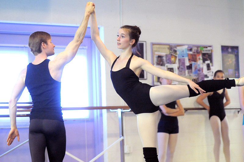 "Mackenzie Ramsey and Christopher Daring perform a dance during rehearsal of Danse Etoile's A Christmas Carol  at the studio on Saturday.<br /> More photos please see  <a href=""http://www.broomfieldenterprise.com"">http://www.broomfieldenterprise.com</a><br /> December 10, 2011<br /> Staff photo/ David R. Jennings"