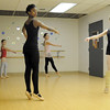 Jen Archer, left, Ascential Dance, watches Imani Williams, 12, Alana Spritzer, 14, with Tabitha Paige, 8, and Mary Haydon, 12, in back, during ballet class at the Davinci Center for Creative Arts on Wednesday.<br /> January 5, 2011<br /> staff photo/David R. Jennings
