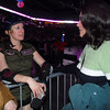 Kendra Blood, left, with the Green Barrettes talks with Cindy (McCoy) O'Neill, a roller derby veteran from the 1960's, during Saturday's first Denver Roller Dolls bout at the 1stBank Center. <br /> <br /> March 20, 2010<br /> Staff photo/David R. Jennings
