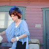 Sue Preston, dressed in period costume, handles a teapot  during the Broomfield Depot Museum 100th anniversary party on Saturday.<br /> October 17, 2009<br /> Staff photo/David R. Jennings