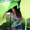 Sophie Kelly paints the underside of an umbrella while working on the set for the Destination Imagination 7th grade team the Creativity Club presentation for the Global Finals in Tennessee.<br /> <br /> May 10, 2012 <br /> staff photo/ David R. Jennings