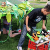 Nick Solusod sorts through materials to amke a snake while working on the set for the Destination Imagination 7th grade team the Creativity Club presentation for the Global Finals in Tennessee.<br /> <br /> May 10, 2012 <br /> staff photo/ David R. Jennings