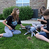 Hannah Freeman, left, Grace Rome and Claire Hamilton make a spider from cardboard and duct tape while working on the set for the Destination Imagination 7th grade team the Creativity Club presentation for the Global Finals in Tennessee.<br /> May 10, 2012 <br /> staff photo/ David R. Jennings