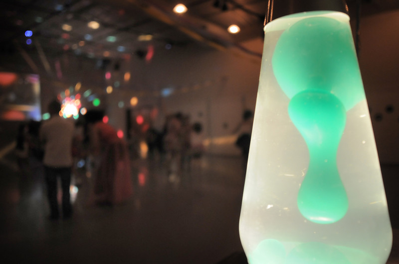 A lava lamp adds to the mood of the disco dance off for the School of Ballet Nouveau Colorado at the BNC studio on Saturday.<br /> July 9, 2011<br /> staff photo/ David R. Jennings