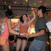 Megan Moore, 14, left, Melissa Learish, 14, and Antonio Houck, 14, dance together during the disco dance off for the School of Ballet Nouveau Colorado at the BNC studio on Saturday.<br /> July 9, 2011<br /> staff photo/ David R. Jennings