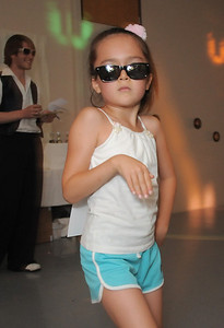 Tahlia Fish, 6 1/2, stays in character while dancing during the disco dance off for the School of Ballet Nouveau Colorado at the BNC studio on Saturday. July 9, 2011 staff photo/ David R. Jennings