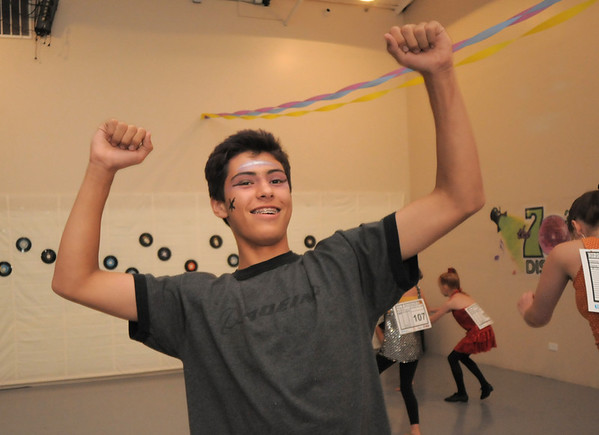 Antonio Houck, 14, dances during the disco dance off for the School of Ballet Nouveau Colorado at the BNC studio on Saturday.<br /> July 9, 2011<br /> staff photo/ David R. Jennings
