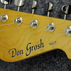 The headstock with the Don Grosh logo at Grosh Guitars in Broomfield on Thursday.<br /> October 15, 2009<br /> Staff photo/David R. Jennings