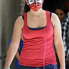 "Kayleen Campbell had her face painted as ""Spiderwoman"" for super hero day during homecoming week at Broomfied High School on Wednesday.<br /> <br /> Sept. 30, 2009<br /> Staff photo/David R. Jennings"