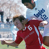 Carlos Ruiz, Broomfield, collides with Caleb Runck, Castle View, during Saturday's game at Elizabeth Kennedy Stadium.<br /> October 31, 2009<br /> Staff photo/David R. Jennings