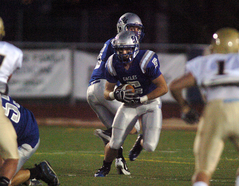 Broomfield's Dan Geubelle runs downfield against Greeley West during Friday's game at Elizabeth Kennedy Stadiium.<br /> <br /> October 1, 2010<br /> staff photo/David R. Jennings