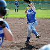 Pitcher Tiana Rendon, Broomfield, throws against Emily Revielle,  Longmont, during play at Broomfield High Saturday.<br /> <br /> Sept. 26, 2009<br /> Staff photo/David R. Jennings