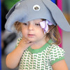 Dayli Romir-Leavitt, 19 months-old, tries on an elephant hat during the Early Literacy Fair at the Mamie Doud Eisenhower Public Library on Saturday.<br /> July 15, 2011<br /> staff photo/ David R. Jennings