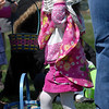 Jacque Steven, 2, uses her basket for a hat before the 16th Annual Egg Scramble at Community Park on Saturday.<br /> <br /> April 3, 2010<br /> Staff photo/David R. Jennings