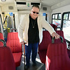 Marilyn Kay Johnson walks to her seat on the Easy Ride bus at Broomfield Senior Center on Friday.<br /> January 4, 2013<br /> staff photo/ David R. Jennings