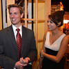 House District 33 candidate David Pigott chats with his girl friend Charlie Morris by his side at the Broomfield County Republican party at Delvickio's restaurant on Tuesday.<br /> <br /> November 6, 2012<br /> staff photo/ David R. Jennings