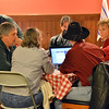 Broomfield County Republicans look at results on a computer at Delvickio's Restaurant on Tuesday.<br /> <br /> November 6, 2012<br /> staff photo/ David R. Jennings