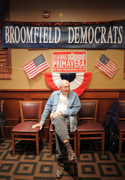 Bob Hain a local campaigner for House District 33 representative Dianne Primavera waits for results at the Broomfield Democratic election returns watch party at CB & Potts in Broomfield on Tuesday.<br /> November 2, 2010<br /> staff photo/David R. Jennings