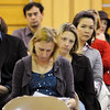 Parents and teachers listen to the three Emerald Elementary School principal candidates answer questions during  the community forum at the school on Thursday.<br /> March 22, 2012 <br /> staff photo/ David R. Jennings