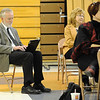 Boulder Valley School District superintendent Bruce K. Messinger takes notes during Thursday's Emerald Elementary School principal candidate forum with parents and teachers in the school's cafeteria.<br /> March 22, 2012 <br /> staff photo/ David R. Jennings