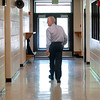 Retiring Emerald Elementary School Principal Larry Leatherman walks the halls on the last day of school with the children. <br /> May 27, 2010<br /> Staff photo/ David R. Jennings
