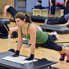 Mel Gore does pushups during the Body Pump class at the Paul Derda Recreation Center on Thursday.<br /> January 3, 2013<br /> staff photo/ David R. Jennings