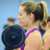 Morgan Ernzen does curls during Body Pump class at the Paul Derda Recreation Center on Thursday.<br /> January 3, 2013<br /> staff photo/ David R. Jennings