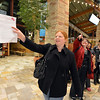 Erin Linenberger, left, leads the way for her group during the FRIENDS of Broomfield scavenger hunt at FlatIron Crossing mall on Thursday.<br /> February 14, 2013<br /> staff photo/ David R. Jennings