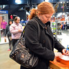 Erin Linenberger records the shoes her group found at Dick's Sporting Goods during the FRIENDS of Broomfield scavenger hunt at FlatIron Crossing mall on Thursday.<br /> February 14, 2013<br /> staff photo/ David R. Jennings