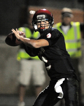 Fairview's quarterback Michael McVenes passes the ball against Legacy during Saturday's game at Reicht Field.<br /> October 1, 2011<br /> staff photo/ David R. Jennings