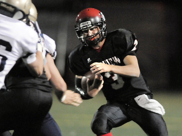 Fairview's quarterback Michael McVenes runs the ball downfield against Legacy during Saturday's game at Reicht Field.<br /> October 1, 2011<br /> staff photo/ David R. Jennings