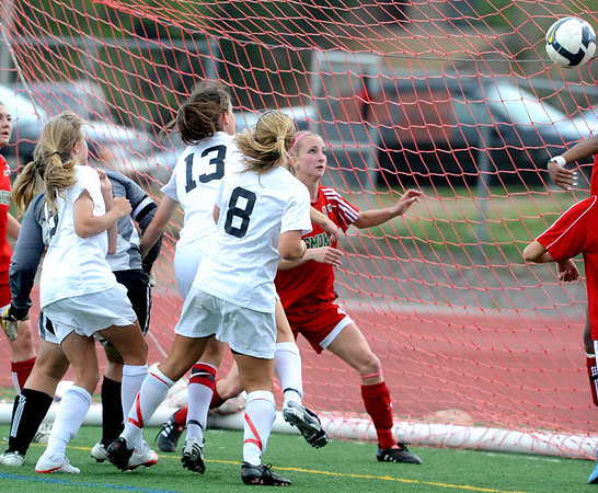 FVHS10<br /> Fairview'sMolly McGuigan scores a goal against Smoky Hill. <br /> Photo by Marty Caivano/Camera/May 18, 2010