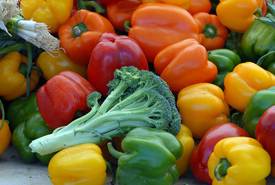 A variety of vegetables on display for customers of Miller Farms during the first Farmers Market at Holy Comforter Church on Tuesday. June 14, 2011 staff photo/David R. Jennings
