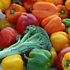 A variety of vegetables on display for customers of Miller Farms during the first Farmers Market at Holy Comforter Church on Tuesday.<br /> June 14, 2011<br /> staff photo/David R. Jennings