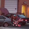 An Adams County Bomb Squad robot searches the contents of a possible suspects car at the scene of a fatal shooting at 155 Commerce St. on Friday in Broomfield.<br /> October 12, 2012<br /> staff photo/ David R. Jennings