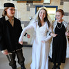 Austin Baltzer, left, Kali Zack and Hannah Trip prepare to walk down the isle for the wedding ceremony during rehearsal of  Broomfield Heights Middle School production of Fiddler on the Roof on Thursday.<br /> <br /> March 15,  2012 <br /> staff photo/ David R. Jennings