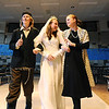 Kali Zack, center, Tzeitel, walks with Austin Baltzer, left, Tevya, and Hannah Tripp, Golde, for the waedding ceremony during rehearsal of  Broomfield Heights Middle School production of Fiddler on the Roof on Thursday.<br /> <br /> <br /> March 15,  2012 <br /> staff photo/ David R. Jennings