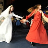 Kali Zack, left, Tzeitel, dances with villagers after the wedding during rehearsal of  Broomfield Heights Middle School production of Fiddler on the Roof on Thursday.<br /> <br /> March 15,  2012 <br /> staff photo/ David R. Jennings