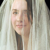 Kali Zack , playing Tzeitel,  wears a veil for the wedding ceremony,during rehearsal of  Broomfield Heights Middle School production of Fiddler on the Roof on Thursday.<br /> <br /> March 15,  2012 <br /> staff photo/ David R. Jennings